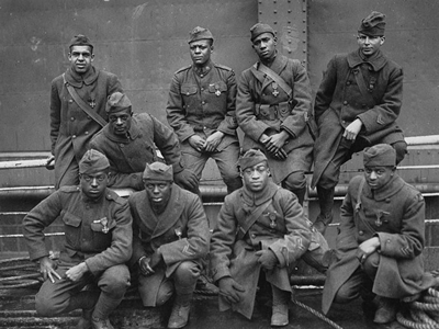 African-American soldiers in the First World War.